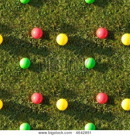 Seamless Tile Pattern Of Grass Color Balls