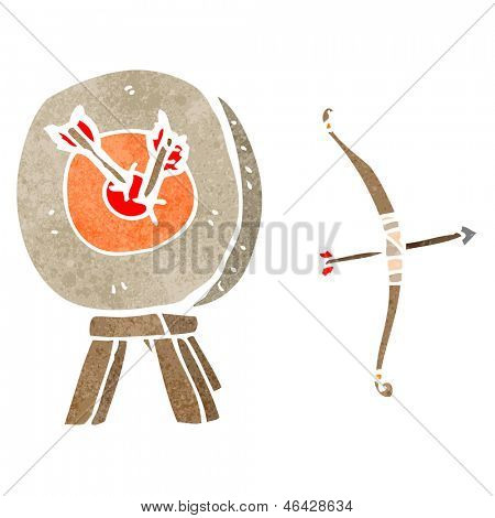 archery target retro cartoon