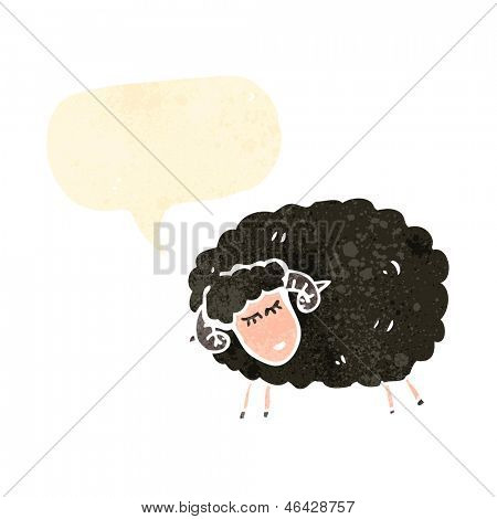 dibujos animados retro Black sheep