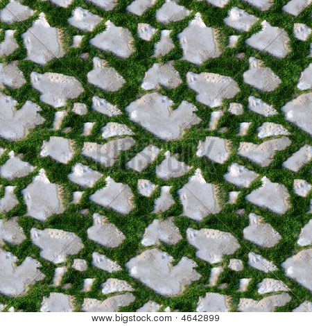 Seamless Tile Pattern Of Grass And Rock