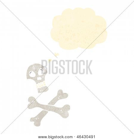 retro cartoon skull and crossbones