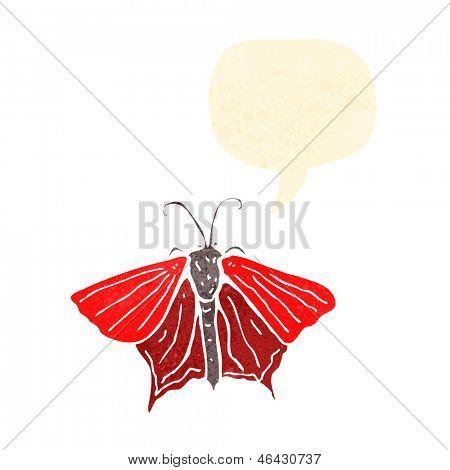 mariposa de dibujos animados retro