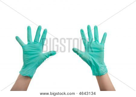 Hands In Surgical Gloves