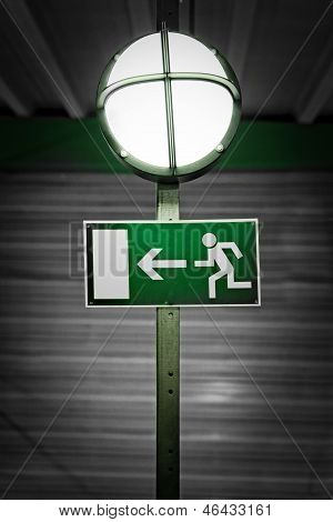 Exit Sign With Lamp