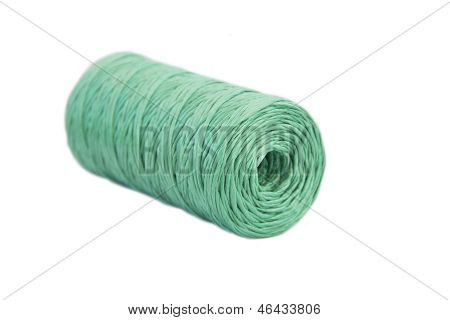 Hank green twine on a white background