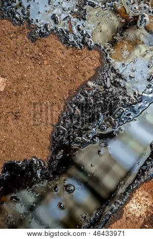 Oil Contaminating The Soil
