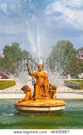 Ceres Fountain At Parterre Garden In Aranjuez