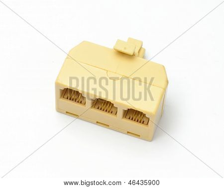 A splitter plug adaptor for multi phone lines