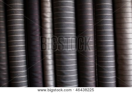 Various suit fabrics close-up