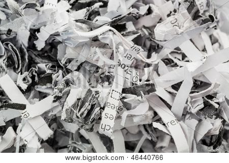 paper pulp, symbolic photo for data destruction, documentation and legacy