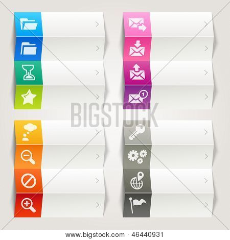 Rainbow - Website and Internet icons / Navigation template