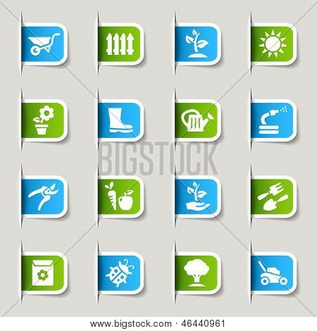 Label - Gardening icons