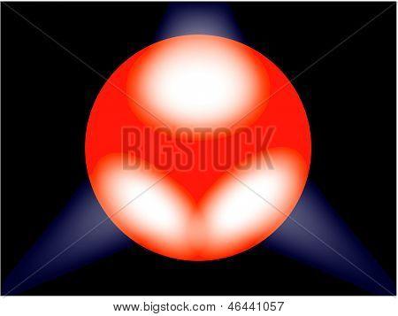 Spotlit Globe.