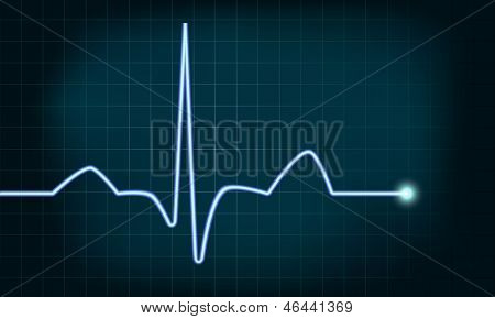 detailed illustration of of a heartbeat curve background, eps10 vector, gradient mesh included