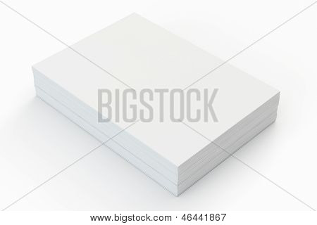 Blank a4 paper stack