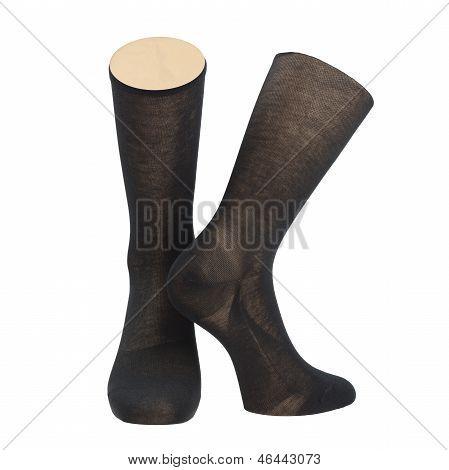 Pair of socks on mannequin