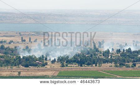 Heavy Fighting Broke On Demilitarized Zone In Golan Heights