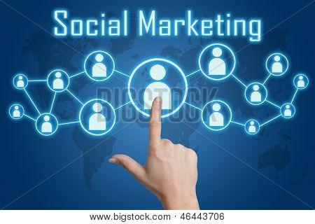 Pressing Social Marketing Icon