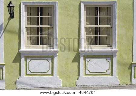 Portuguese Windows And Lamp