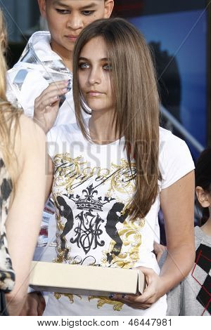 LOS ANGELES - JAN 26: Paris Jackson at the hand and footprint ceremony honoring musician Michael Jackson at Grauman's Chinese Theater on January 26, 2012 in Los Angeles, California