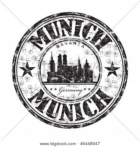 Munich grunge rubber stamp