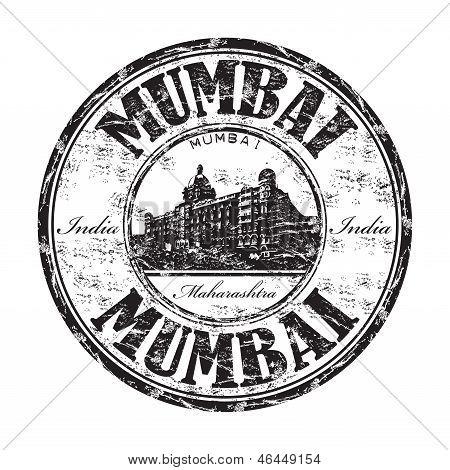 Mumbai grunge rubber stamp