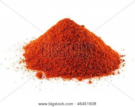Ground Red Chili Hot Pepper. Hill Of Sweet Paprika