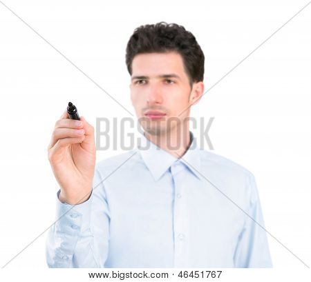 Businessman Writing With A Marker