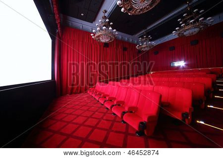 MOSCOW - SEPTEMBER 4: Big hall of cinema in GUM, on September 4, 2012 in Moscow, Russia. Comfortable big hall of cinema in GUM has 70 seats.