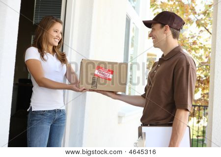 Delivery Man With Package
