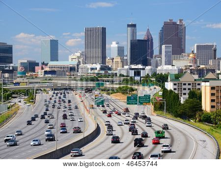 Skyline of downtown Atlanta, Georgia.