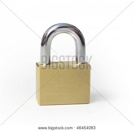Closed locks isolated on white background