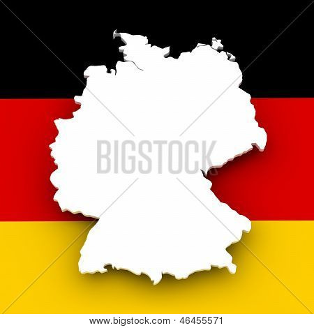 German Map And Flag