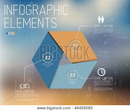 Vector Infographic elements no abstract background