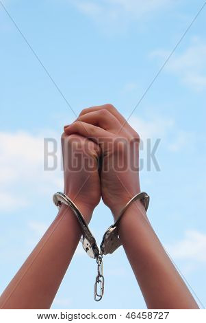 Handcuffed Woman's Hands