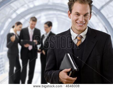 Businessman Leading Business Team