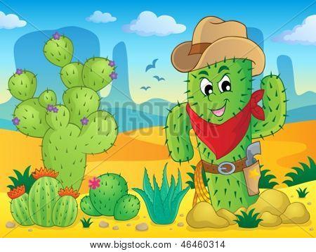 Cactus theme image 4 - eps10 vector illustration.