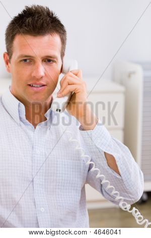 Business Man Working At Home