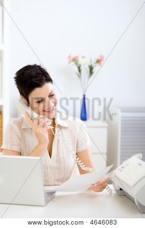 Young Businesswoman Working At Home