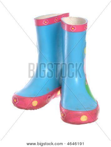 Blue Wellington Boots