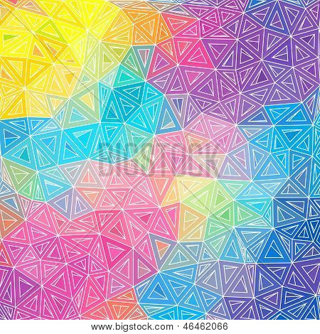 Colorful abstract triangles vector background