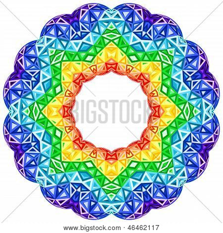 Rainbow kaleidoscope vector vibrant circle