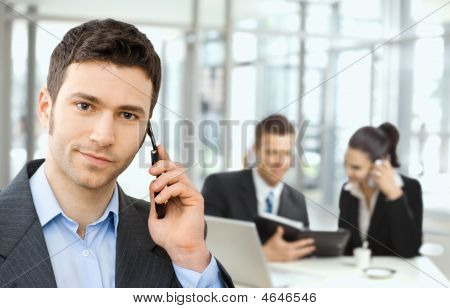 Businessman On Business Meeting