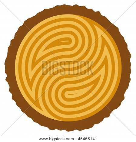 Vector Wooden Log Cut