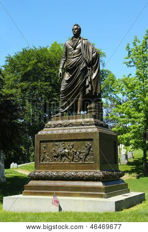 Governor DeWitt  Clinton monument at Green-Wood cemetery  in Brooklyn