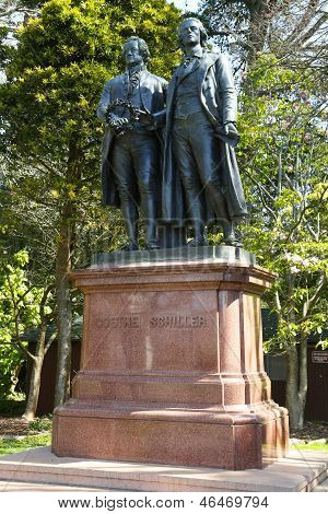 Goethe and  Schiller Monument in Golden Gate Park in San Francisco