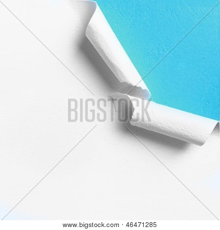 Piece Of White Paper With Torn Hole Edge