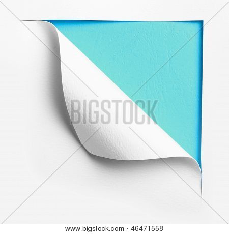 Corner White Torn Paper