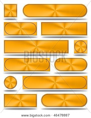 The Aluminum Buttons- Copper Version