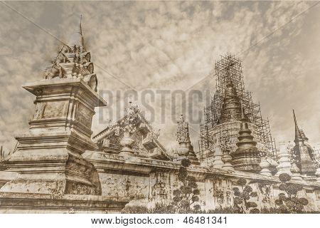 Vintage - Wat Ban Den, Maetang Chiangmai Thai Temple